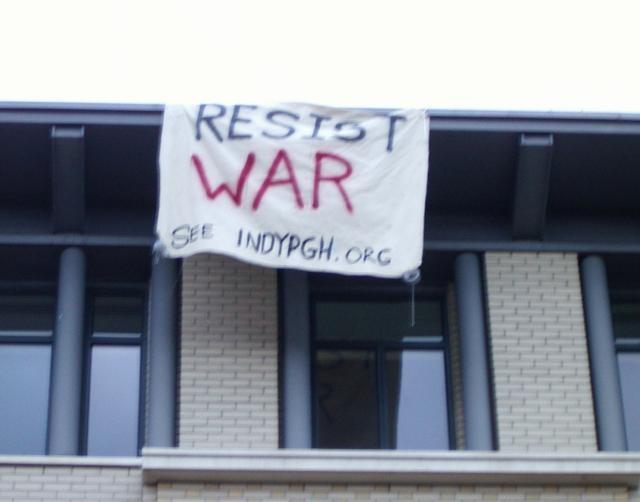 Banner Drop at CMU...