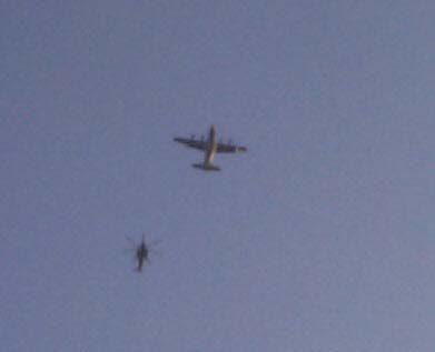 chopper overhead...