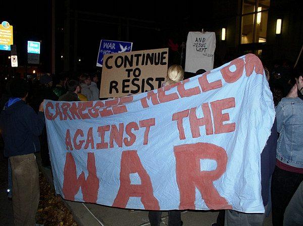 CMU against the war...