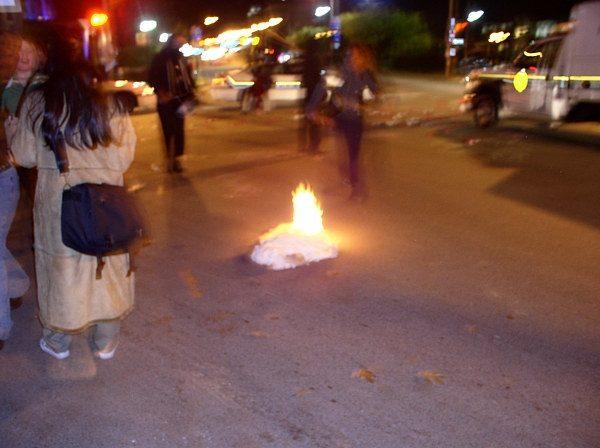 Rag burning...