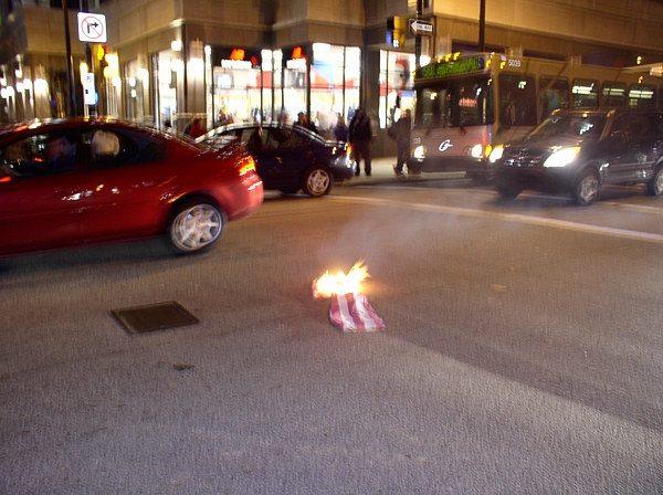Flag burning...