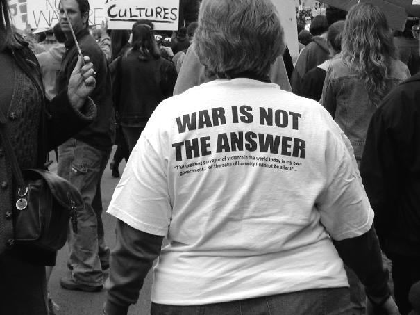war is not the answe...