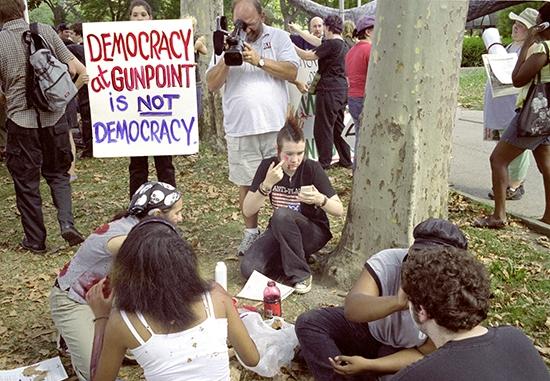 Democracy at gunpoin...