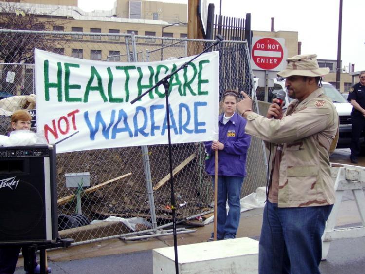 Rally at VA hospital...