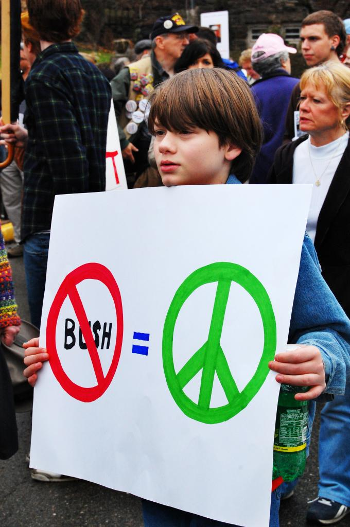 No Bush Equals Peace...