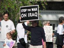 "Harrisburg Protests Bush's ""End the War"" Veto"