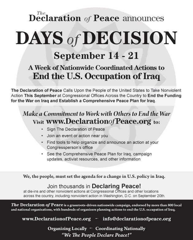 """""""Days of Decision�..."""