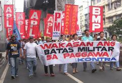 "Filipino workers say ""Never Again"""