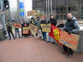 Pittsburgh rallies to support locked-out Steel Workers of Local 1005 of Hamilton, Ontario.