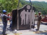 Assemblage of Memorial to the 29 miners that died at Big Branch Mine, Whiteville, Wv. begi